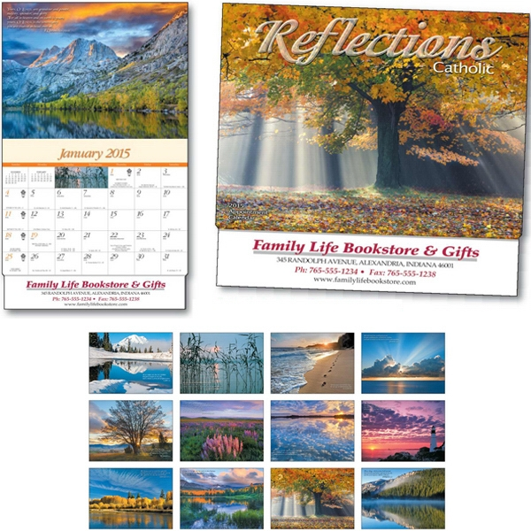 Catholic Reflections - Thirteen Month Appointment Calendar With Photos Paired With Spiritual Verses Photo