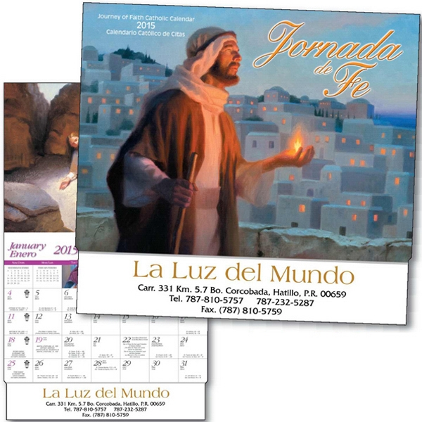 Jornada De Fe - Thirteen Month Bilingual Appointment Calendar With Holy Days And Bible Verses Photo
