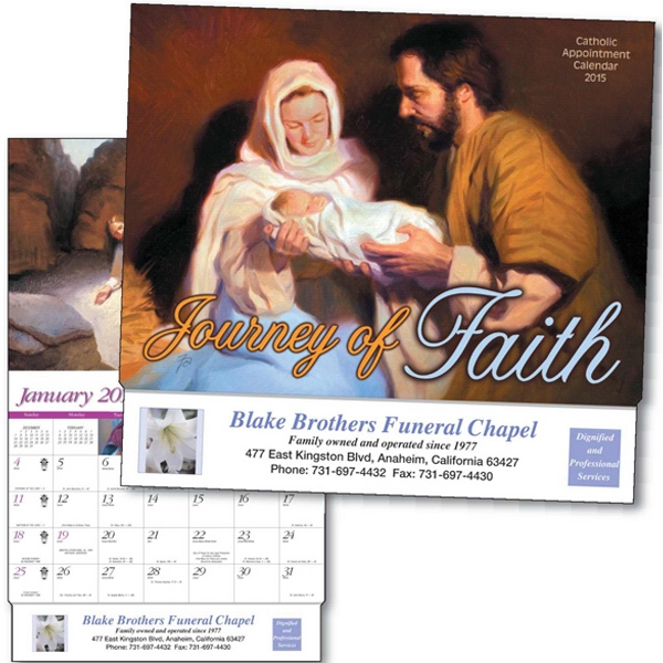 Journey Of Faith - Thirteen Month Appointment Calendar With Illustrated Scenes And Bible Verses Photo