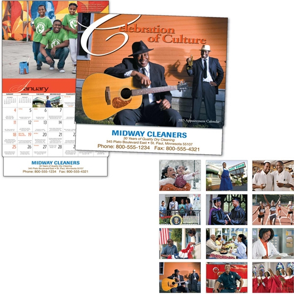 A Celebration Of Culture - Thirteen Month Appointment Calendar With An Inspirational Quote Each Month Photo