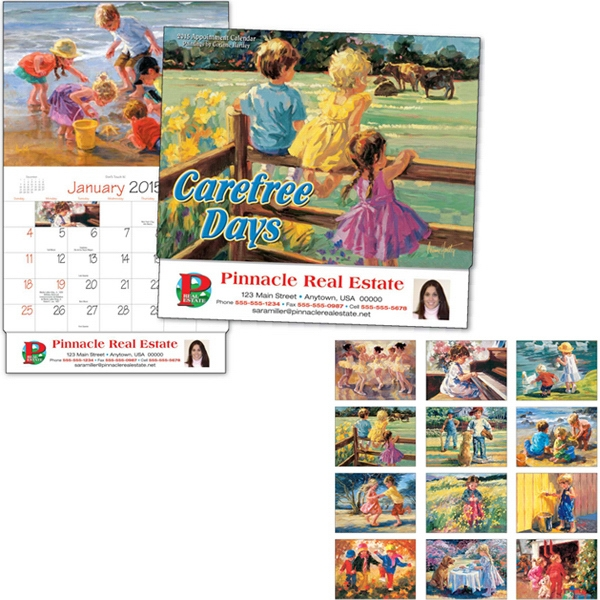 Carefree Days - Thirteen Month Appointment Calendar With Colorful Paintings By Corinne Hartley Photo