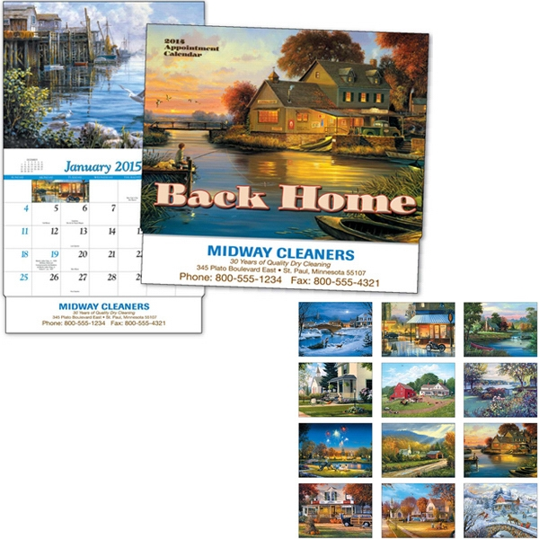 Back Home - Thirteen Month Appointment Calendar With Paintings Photo