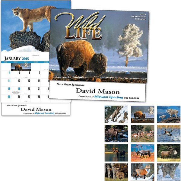 Thirteen Month Appointment Calendar Featuring Wildlife In Their Natural Habitat Photo