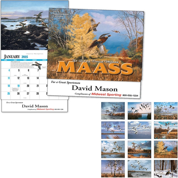 David Maass - Thirteen Month Appointment Calendar With Full-color Insets And Descriptions Photo