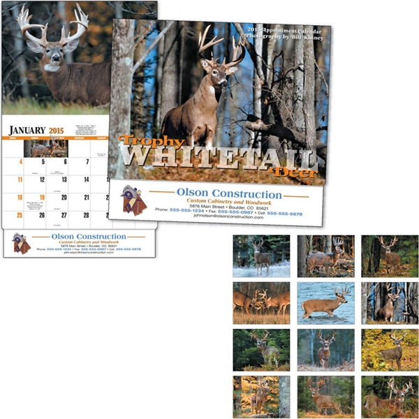 Trophy Whitetail Deer - Thirteen Month Appointment Calendar With Photographs By Bill Kinney Photo