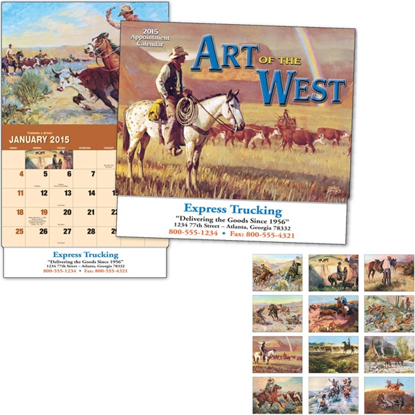 Art Of The West - Thirteen Month Appointment Calendar With Colorful Paintings Photo