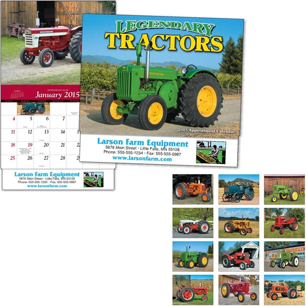Legendary Tractors - Thirteen Month Appointment Calendar Featuring Farm Machinery Photo