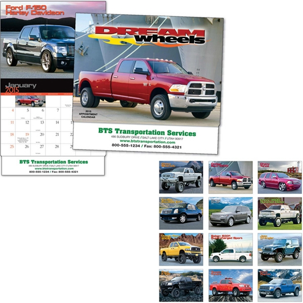 Dream Wheels - Thirteen Month Appointment Calendar With Truck And Suv Photos Photo