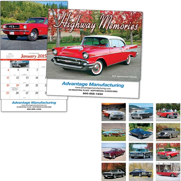 Highway Memories - Thirteen Month Appointment Calendar With Classic Car Photos Photo
