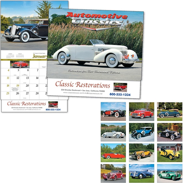 Automotive Classics - Thirteen Month Appointment Calendar With Car Images Photo