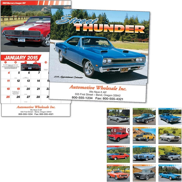 Street Thunder - Thirteen Month Appointment Calendar With Muscle Car Images Photo