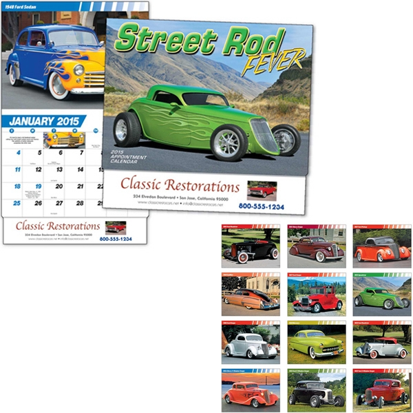 Street Rod Fever - Thirteen Month Appointment Calendar Features Thirteen Hot Street/custom Rods Photo