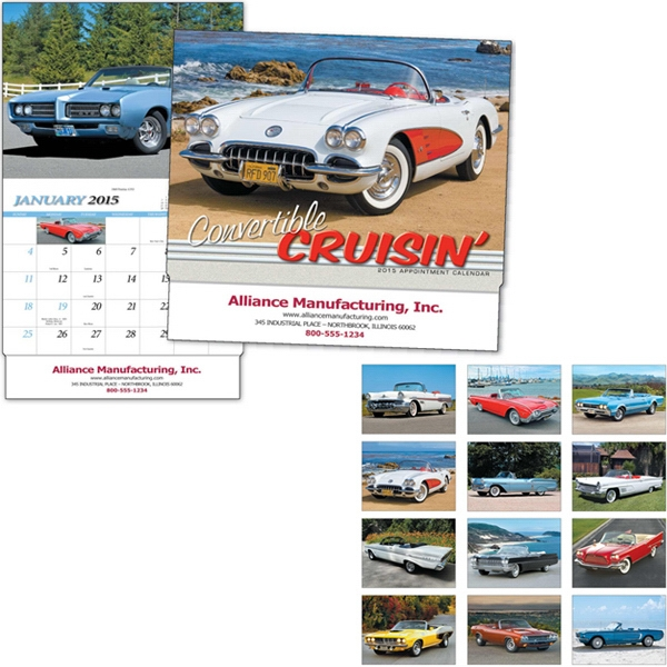 Convertible Cruisin' - Thirteen Month Appointment Calendar Featuring Popular Collector Cars Photo
