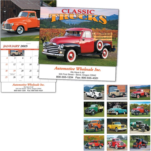 Thirteen Month Appointment Calendar With Classic Truck Images Photo