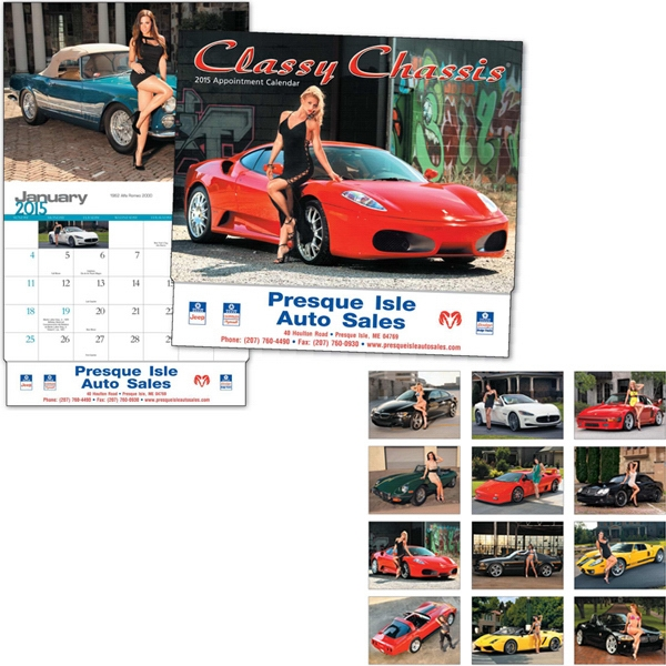 Classy Chassis (r) - Thirteen Month Appointment Calendar Features Cars Paired With Women Photo