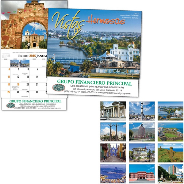 Thirteen Month Bilingual Appointment Calendar With Images Of Central America Photo
