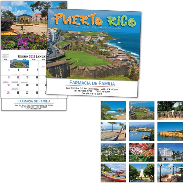 Thirteen Month Bilingual Appointment Calendar With Photographs Of Puerto Rico Photo