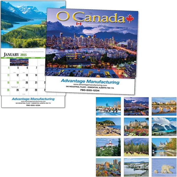 O Canada - Thirteen Month Appointment Calendar Featuring Wilderness, Villages And Cities Photo