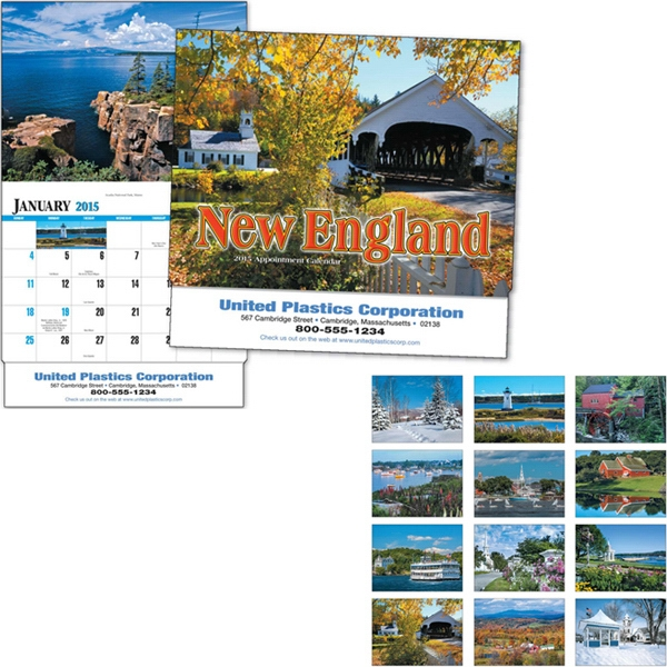 Thirteen Month Appointment Calendar With Images Of New England Photo