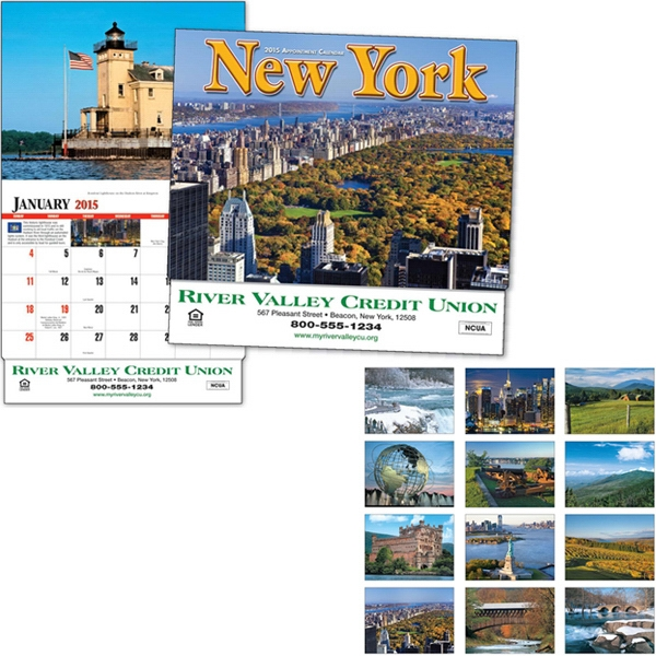 Thirteen Month Appointment Calendar With Photos Of New York Photo