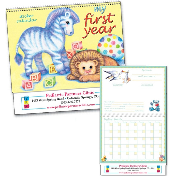 My First Year (tm) - Non-dated, Spiraled Baby Calendar With Colorful Stickers Photo