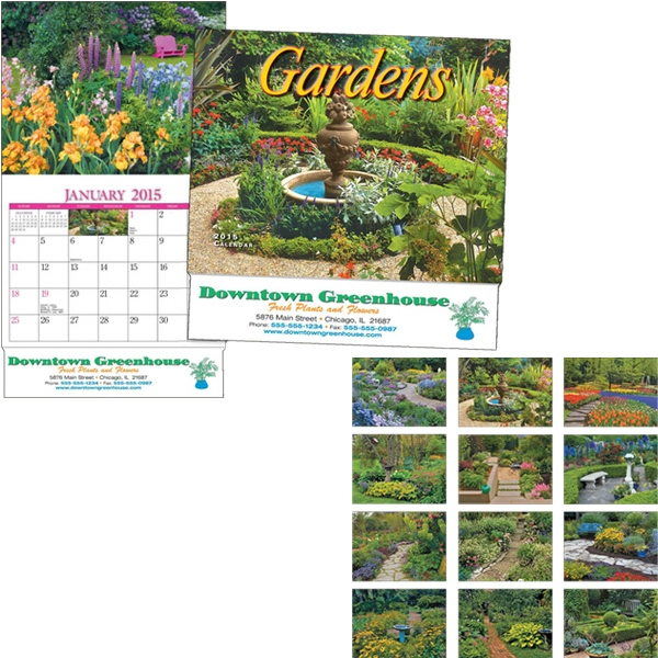 Miniatureline (tm) Gardens - Thirteen Month Miniature Calendar With Garden Scenes Photo