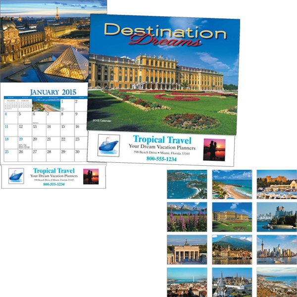 Miniatureline (tm) Destination Dreams (r) - Thirteen Month Miniature Calendar With Images Of Scenic Destinations Photo