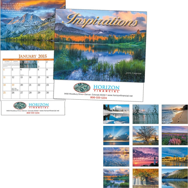 Miniatureline (tm) Inspirations - Thirteen Month Miniature Calendar With Photos And A Bible Verse Each Month Photo