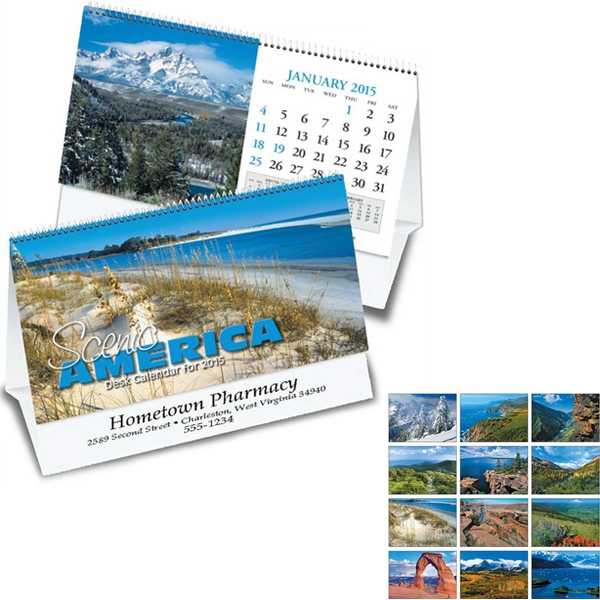 Scenic America (r) - Thirteen Month Desk Tent Calendar Photo