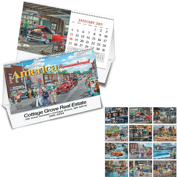 America Remembered - Thirteen Month Desk Tent Calendar Featuring The Art Of Ken Zylla Photo