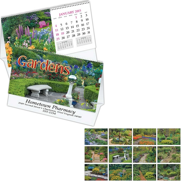 Gardens - Thirteen Month Desk Tent Calendar Photo