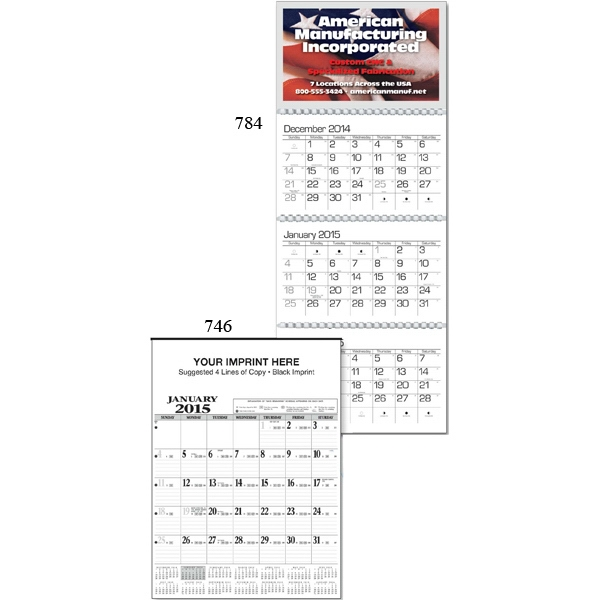 Quarterly Planner Business Calendar With Previous, Current And Subsequent Months Photo