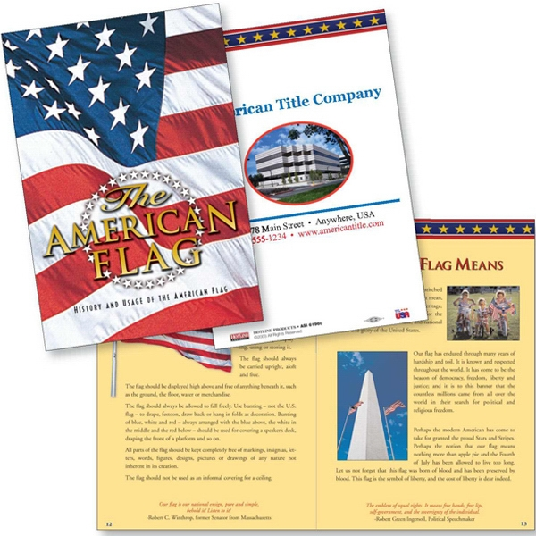 The American Flag Patriotic Booklet With History And Interesting Facts Photo