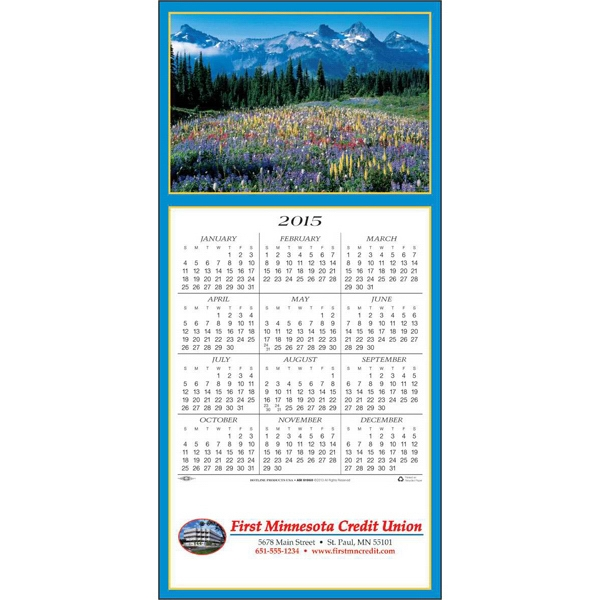 Scenic Vista - Greeting Card With Year-at-a-glance Calendar Photo