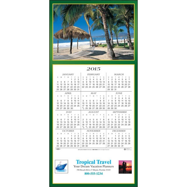 Tropical Escape - Greeting Card With Year-at-a-glance Calendar Photo