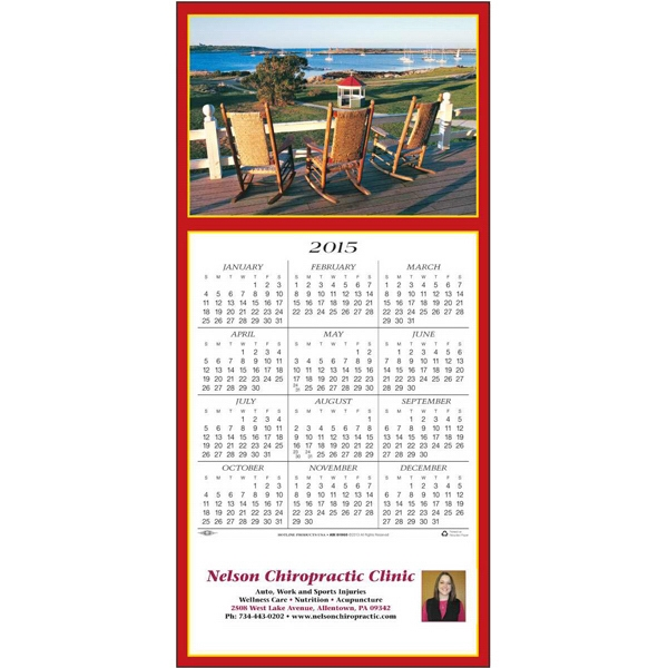 Seaside Vista - Greeting Card With Year-at-a-glance Calendar Photo