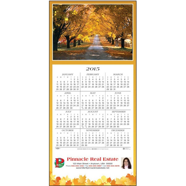 Country Road - Greeting Card With Year-at-a-glance Calendar Photo
