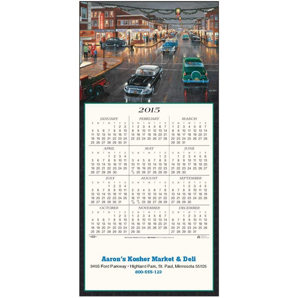 'tis The Season - Greeting Card With Year-at-a-glance Calendar Photo
