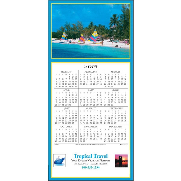 Tropical Getaway - Greeting Card With Year-at-a-glance Calendar Photo