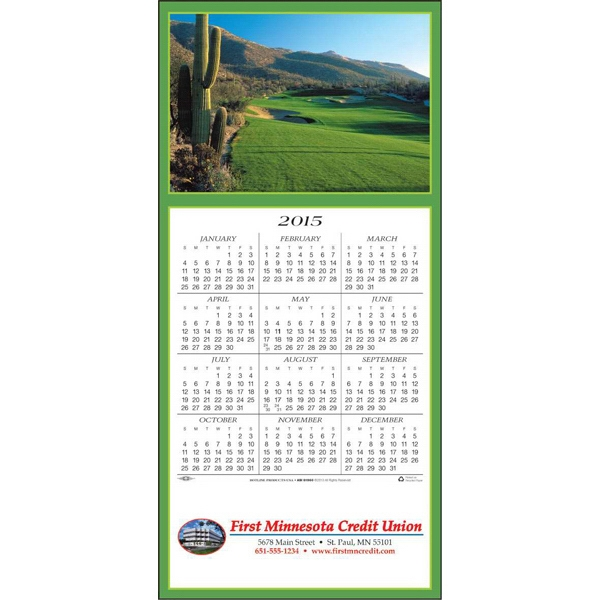 A Golfer's Delight - Greeting Card With Year-at-a-glance Calendar Photo