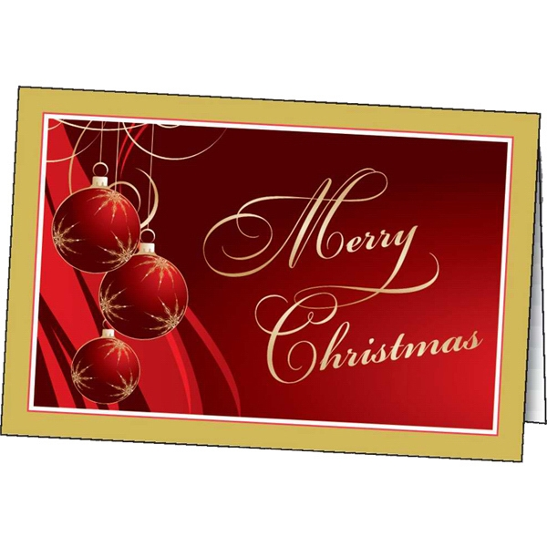 Gilded Ornaments - Holiday Greeting Card Photo