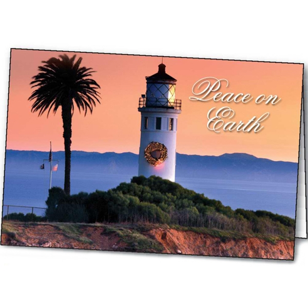 Lighthouse Greetings - Holiday Greeting Card Photo