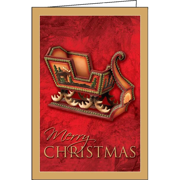 Yuletide Sleigh - Holiday Greeting Card Photo