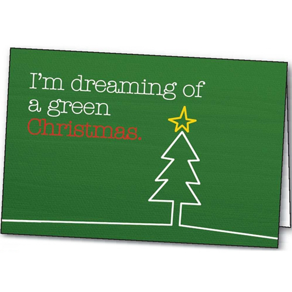 A Green Christmas - Holiday Greeting Card Photo
