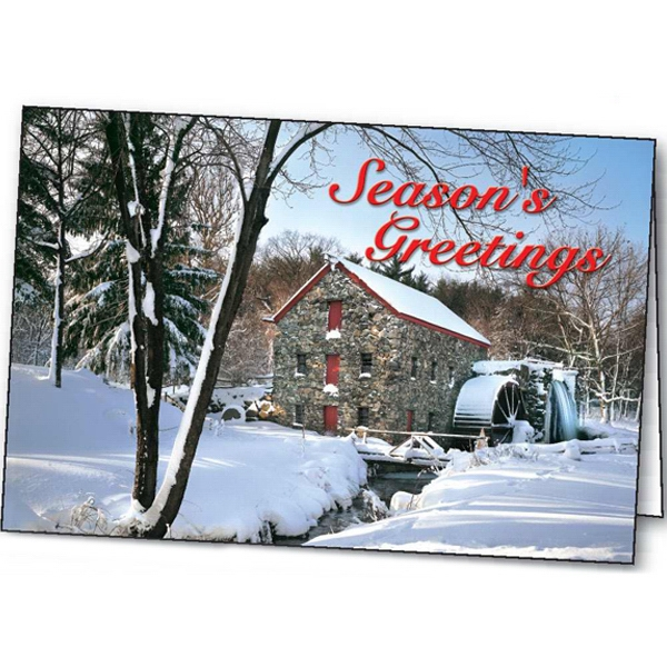 Old Mill Holiday - Holiday Greeting Card Photo