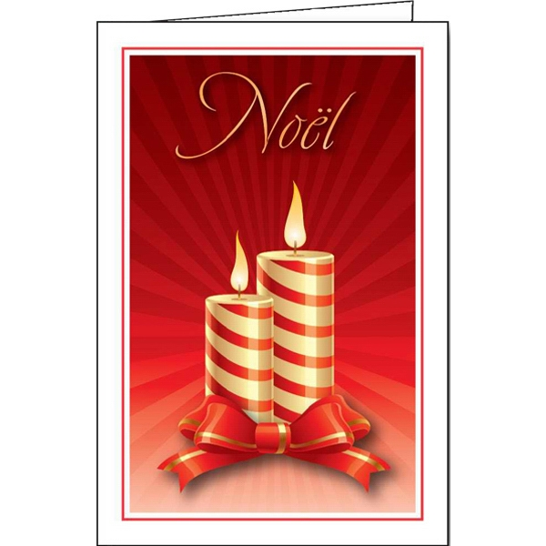 Yule Candles - Holiday Greeting Card Photo