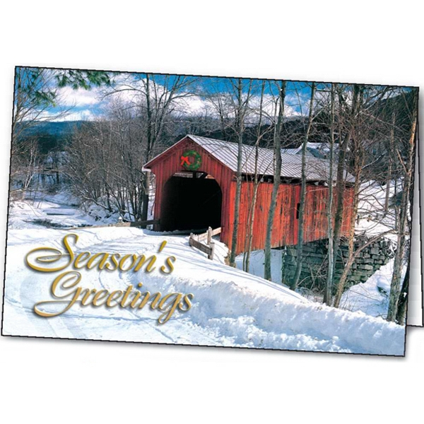 The Red Bridge - Holiday Greeting Card Photo