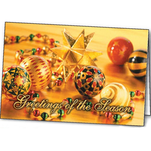 Shimmering Ornaments - Holiday Greeting Card Photo