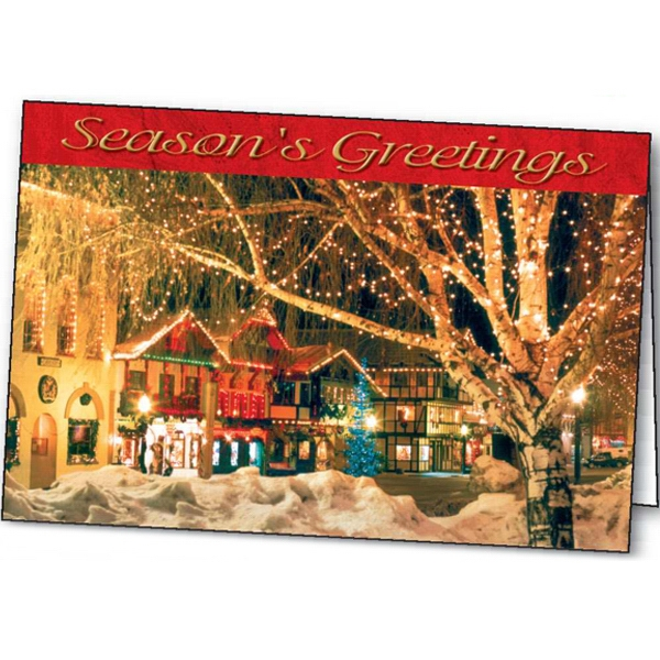 Village Glow - Holiday Greeting Card Photo