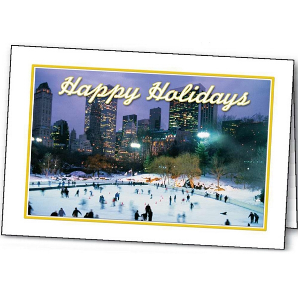 Skating Holiday - Holiday Greeting Card Photo